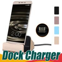 evrensel yerleştirme istasyonları toptan satış-Evrensel Hızlı Şarj Yerleştirme Dock İstasyonu Cradle Şarj Sync Dock Samsung S6 S7 kenar Not 5 Tipi C Android Ile Perakende kutu