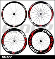 karbonlu yol bisikleti boyalı toptan satış-Ücretsiz kargo karbon 38/50/60 / 88mm Kattığı jantlar FFWD F4R F5R F6R F9R boya 700C tam karbon yol bisikleti tekerlek