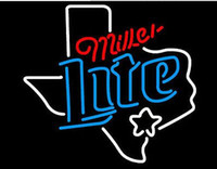 Wholesale Dallas Texas - Fashion Handcraft Texas - Miller Lite - Dallas Real Glass Tubes Beer Bar Pub Display neon sign 19x15!!!Best Offer!