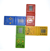 Wholesale Force Electronics - Retro Classic Childhood Tetris Handheld Game Players LCD Electronic Games Toys Game Console Riddle Educational Toys
