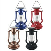 Wholesale high solar panel - High Brightness Solar Panel Lantern Lamp 7LED 16LED Hand Crank Portable Light Outdoor Hanging Lamp Hiking Camping Fishing Light with Charger