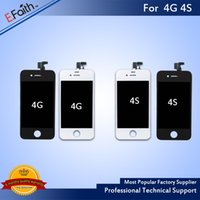 Wholesale Dhl Free Gsm - For LCD Display Grade A +++ iPhone 4 iPhone 4S GSM with Touch Screen Digitizer Replacement & Free DHL Shhipping