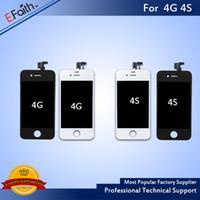 apple iphone 4s pantalla de reemplazo al por mayor-Pantalla LCD para iPhone 4 con reemplazo de digitalizador de pantalla táctil para iPhone 4S DHL sin cargo Shhipping