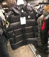 colete solto venda por atacado-Inverno colete baixo Duck Homens colete branco para baixo solto weskit com capuz casaco de cintura Matte Masculino Vest