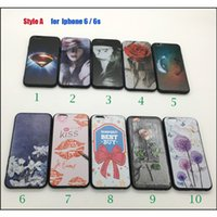 Caso de iphone suave Ultra Lace 3D em relevo Painting Design TPU Covers para Iphone 7 6 6s e Plus Protective Apple Cell Phone Sets