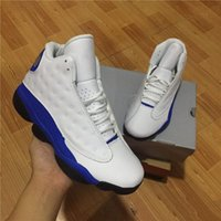 Wholesale Italy Canvas - New arrive air retro 13 Hyper Royal GS Italy Blue olive men basketball shoes retro 13s mens sports Sneaker Athletics Shoes size 41-47