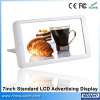 Wholesale video advertising - Wholesale- 7 inch plastic shell 1080p decode lcd screen shopping mall Auto play standard digital advertising signage player video