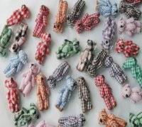 Lattice Bears, Mix Colori Cute Mini 4.5CM Joint Poco Peluche Bear Pezzato DOLL; Accessori Peluche regalo TOY DOLL