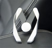 araba şekli iphone toptan satış-Evrensel M Şekli Cep Telefonu Araç Tutucu Ayarlanabilir M Modeli Hava Firar Dağı Telefon Braketi iphone 6 s 7 8 artı Samsung s7 s8 için Tutucu Stand