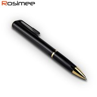 Wholesale key digital voice recorder - Rosimee Ball Point Pen Professional Digital Audio Voice Recorder A Key Recording Dictaphone HIFI MP3 Player Espia Gravador