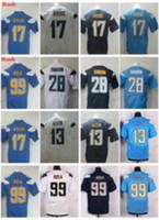 Wholesale Blue El Light - 2017 Color Rush Legend Light Blue Elite 17 Philip Rivers 99 Joey Bosa 28 Melvin Gordon 13 Keenan Allen Team Color Stitched Jerseys
