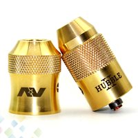 Wholesale Torpedo Wholesale - Newest AV Torpedo Cap Combo RDA Atomizer Clone with Brass Modfather Hubble 2 Cap Adjustable Airflow fit 510 Mods DHL Free
