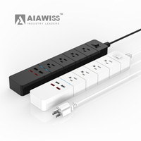 Wholesale usb power surge protector - AIAWISS 4-Outlet Surge Protector Power Strip with 5 Feet Cord and 4 USB charging ports,(Colour: White   Black)