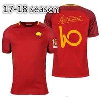 Wholesale X Xxl - Thai quality 17 18 Rome Jersey TOTTI shirt 2018 MAGLIA GARA CAPITANO Maillot De Foot 2017 Francesco Aeterno X Big Size XXL XXXL XXXXL
