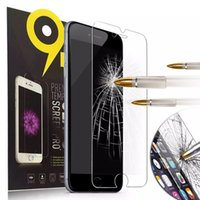 Wholesale Clean Iphone Glass - For Apple iphone 7 7Plus 6S 5S Tempered Glass Screen Protector Film 9H 2.5D Anti-Scratch Cover with Clean Tools for Samsung S5 6 Note 4 5 S7