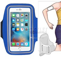 Wholesale Arm Pocket Armband - For S7 Case Iphone 6 Waterproof Sports Running Armband Case Workout Armband Holder Pounch For Iphone Cell Mobile Phone Arm Bag Band
