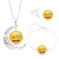 ingrosso collane in oro bianco perla di perle-XS NEW QQ Expression Time Gem Collane Orecchini Bracciali Set di gioielli Accessori in vetro Commercio all'ingrosso