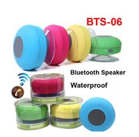 Wholesale bts bluetooth mp3 player online - BTS Suction Mini Bluetooth Speaker Shower Car Waterproof Wireless Mini Bluetooth Speakers Handsfree Mic Mushroom for Bath Bathroom