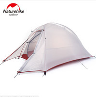 Wholesale Double Layer Tents - Naturehike Tent NH15T001-T Aluminum 1 Person Dome Tents Double-layers Anti-Rain Lightweight 20D Silicone 210T 1.1kg