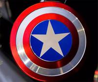 enigma do homem do ferro venda por atacado-Criativo Capitão América Escudo Mão Spinner Homem De Ferro Fidget Liga de Puzzle Brinquedos EDC Autismo TDAH Dedo Giroscópio Brinquedo Adulto Presentes