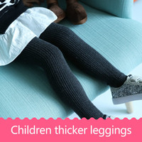 Wholesale Thick Girls Pantyhose - Children's pants socks autumn and winter socks cotton thick pantyhose