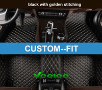 Wholesale Car Foot Mats - Veeleo+ Custom Fit -6 Colors Leather Car Foot Floor Mats for BMW2 3 4 5 6 7 Series Waterproof Anti-slip 3D Full Set Car Mats Carpets Liner