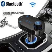 Wholesale Gps Bluetooth A2dp - Wholesale-Car Mp3 Player Bluetooth FM Transmitter HandsFree Car Kit FM Modulator Support A2DP TF USB Charger for iPhone Samsung GPS MP3