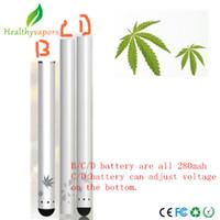 Wholesale D Series - touch B C D series battery vaporizer o pen custom colored bud preheat vaporizer battery rechargeable CBD Battery
