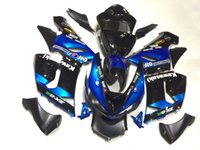 Wholesale blue ninja motorcycle zx6r resale online - 3 gift New Hot ABS motorcycle Fairing kits Fit For Kawasaki Ninja White ZX R R ZX R Blue Black VM