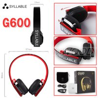 Wholesale Syllable Bluetooth Headset - Original SYLLABLE G600 Wireless Bluetooth Headset with Mic HiFi Stereo Music Headphone Handfree Call for iPhone Samsung Huawei Free Ship DHL