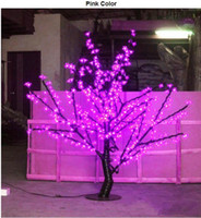 Wholesale Cherry Bulb Ships - LED Cherry Blossom Tree Light 480pcs LED Bulbs 1.5m Height 110 220VAC Seven Colors for Option Rainproof Outdoor Usage Drop Shipping