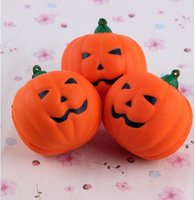 Wholesale Foam Plant - New Arrival Kawaii Cute Squishy Pumpkin Slow Rising Foam Hand Cell Phone Charm Strap Kids Toys Gift Cream Cake Bread Scented