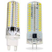 g9 avizeler toptan satış-100 ADET G9 G4 beyaz / sıcak 3 W 3014 2835 SMD 64 LEDs AC110V-130V AC220v-240V LED Lamba Ampul avize lamba 360 Işın Açısı DHL gemi