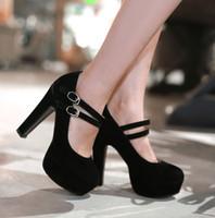 Wholesale Black Women Wearing High Heels - 2017 the new sand-wear fashion high-heeled shoes small yards ladles a single shoe beige women dress shoe 329