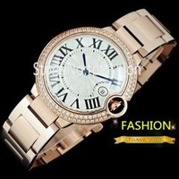 Wholesale Watch Women Rose Gold Classic - Classic Fashion Quartz Watch Men Women Hour Rose Gold Rhinestone Dial Brand Designer Full Stainless Steel Casual Clock Top Quality 5449