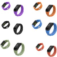 Wholesale pressure testing - Original F1 wristband Smart Band Testing Dynamic and static blood pressure heart rate Activity Tracker Smartband