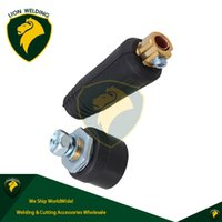 Wholesale Earth Cable - Welding Earth Connector Male Female Cable Quick Connector Fitting Pair DINSE-Style 100Amp-200Amp 10-25 SQ-MM Accessories Plug Socket 2-pk