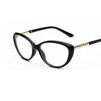 Atacado-Design de Marca Mulheres Sexy Eye Cat Óculos de Armação Miopia  Óptica Eyewear óculos espelho simples computador oculos de grau feminino dd849423e8