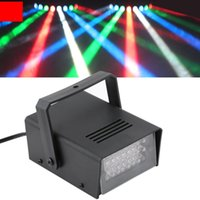 Commercio all'ingrosso - Mini 24 LED Stroboscopio Discoteca DJ Flash Club Club illuminazione Lampadina Party Bar Brand New