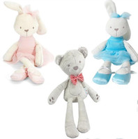 Wholesale Baby Stuffed Plush Toys styles Kids Bunny Bear Elephant Dolls Cute Animals Kids Sleep Comfort Toy Animals New Year Gift
