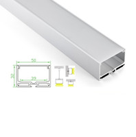 square aluminum extrusion - 10 X M sets U Shape led aluminum profile channel and suspension square extrusion for pendant or recessed wall lamps