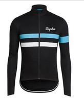 cycling großhandel-Team Rapha Radfahren Jersey Top Jacke Winter Thermo Fleece Bisiklet tragen Fahrrad Maillot Ropa Ciclismo Fahrrad Kleidung versandkostenfrei