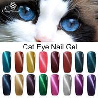 magnético gel polonês cores venda por atacado-Atacado- Saviland 1pcs Olho de gato unha Gel Ímã Gel UV polonês de longa duração 10ml UV / LED 24 cores 3D Magnetic Gel Nail Primer