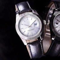 Wholesale Minimalist Designs - new Designer minimalist design Elegant style aaa quality automatic date white watch womens dress Ladies watches belts fashion leather