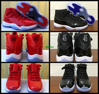 Wholesale Pu Golf Balls - 2017 New Air Retro 11 Space Jams 11 Basketball Shoes Sneakers for Mens Red Black Airs Retros 11s Athletic Sport Basket Ball Shoes Size 36-47