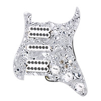 Wholesale guitar single - Loaded Prewired Pickguard HSH Single-coil Pickup for Strat ST Guitar