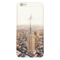 Wholesale Transparent Coloured Iphone Cases - For iphone 7 6 plus Silicone Coloured Drawing Case Landscape Plating TPU cell phone Cases Elizabeth Tower Big Ben Eiffel Shell Cover