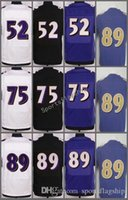Wholesale Lewis Black - Hottest 89 Steve Smith SR Jerseys Men Color Rush Limited 75 Jonathan Ogden 52 Ray Lewis Jersey Purple Black White All Stitched High Quality
