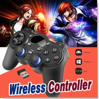 Wholesale Packaging Window Boxes - Universal 2.4G Wireless Game Controller Gamepad Joystick Mini keyboard Remoter For Android TV Box Tablets PC Windows 8 7 XP With Package