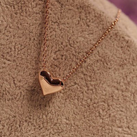 Wholesale Collar Necklace Cheap - Wholesale-China Cheap Necklace Fashion Elegant Sweet Silver Golden Heart Necklace Short Clavicle Collar Chain Necklace For Women Female